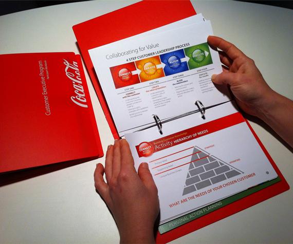 coca cola executive program booklet design 121 creative